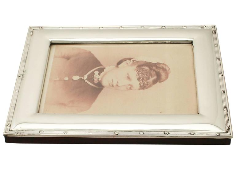 Antique Sterling Silver Photograph Frame, Edwardian For Sale 1