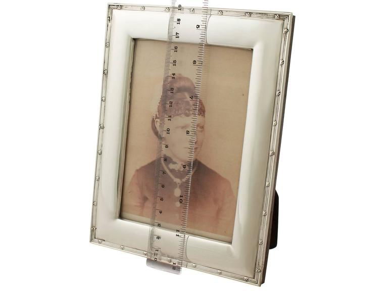 Antique Sterling Silver Photograph Frame, Edwardian For Sale 4