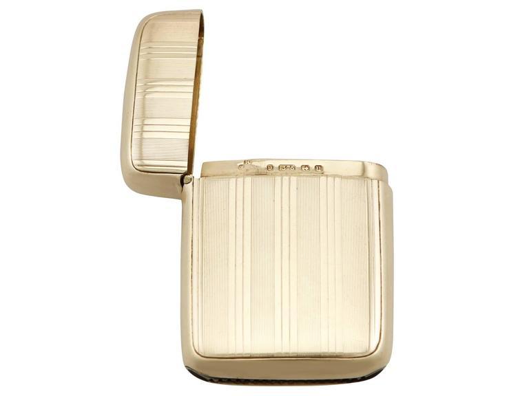 George V Antique Yellow Gold Vesta Case For Sale