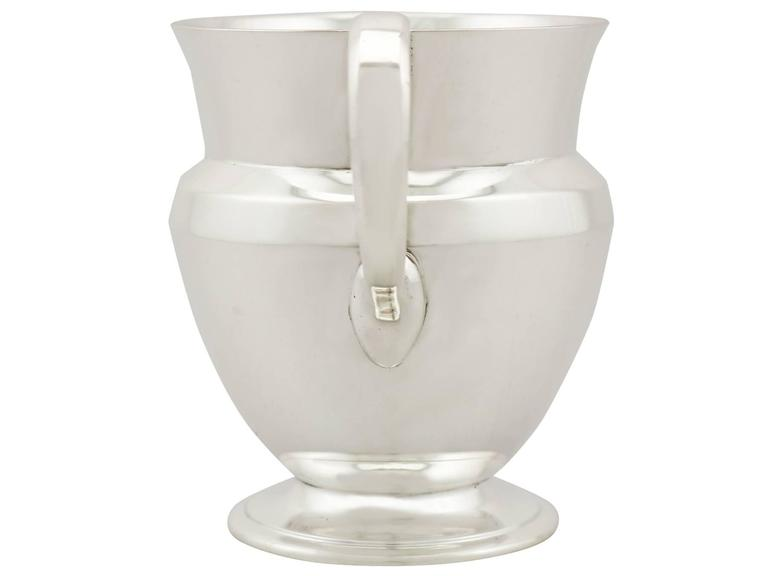 Art Deco Antique Sterling Silver Christening Mug For Sale