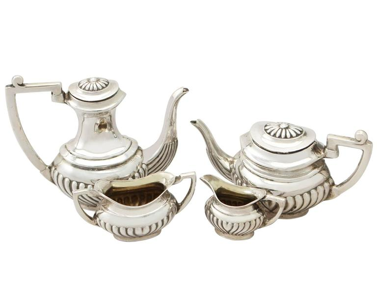 Late 20th Century 1970s Sterling Silver Boxed Miniature Tea and Coffee Service with Tray For Sale