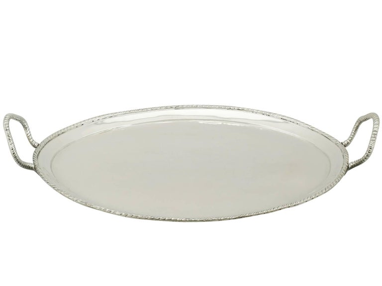 A fine and impressive antique Italian silver two handled tray; an addition to our continental silver collection.