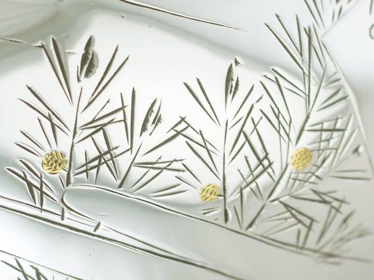 1940s, Antique Japanese Silver Presentation Bowl For Sale 3