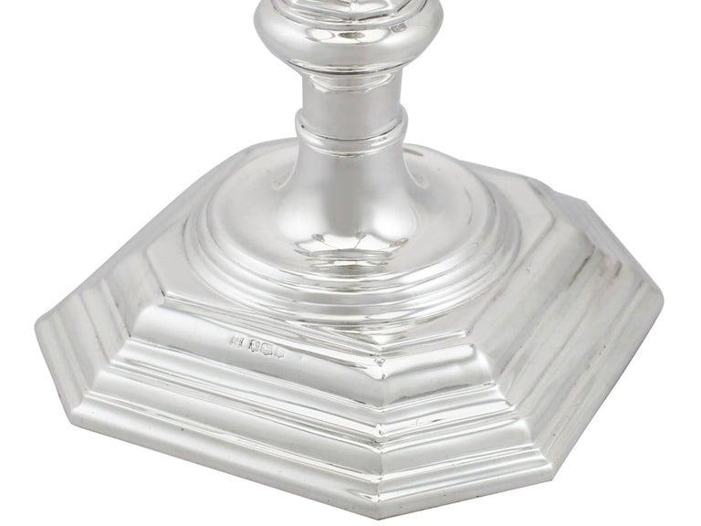 Antique Sterling Silver Five Light, 4 Arm  Candelabra For Sale 1