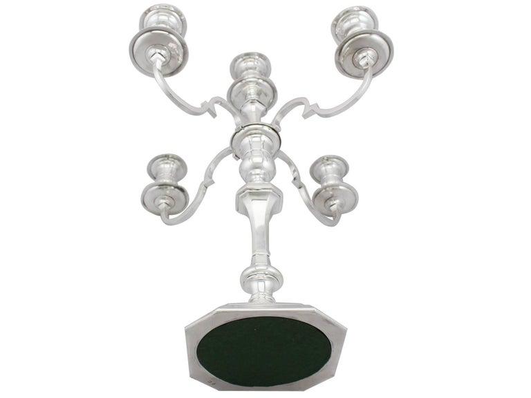 Antique Sterling Silver Five Light, 4 Arm  Candelabra For Sale 4
