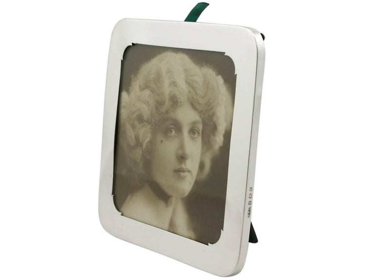 English Antique Sterling Silver Photograph Frame For Sale