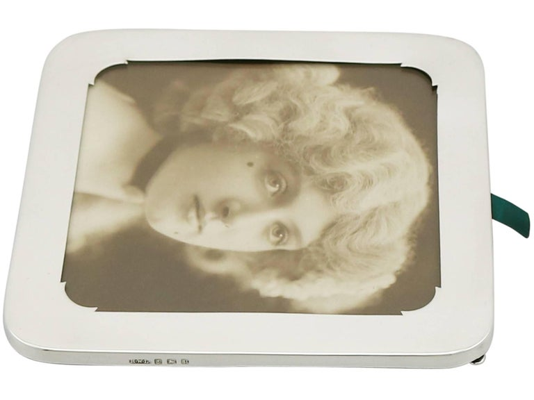 Antique Sterling Silver Photograph Frame For Sale 2