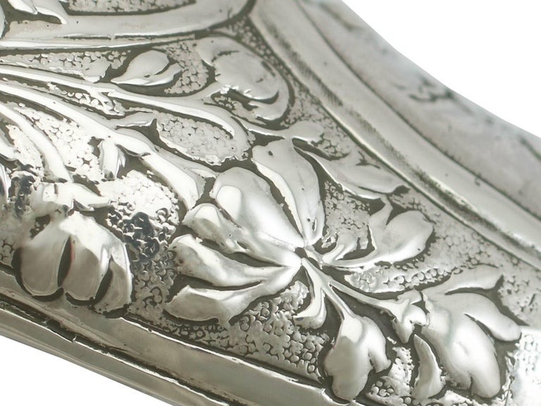 Early 20th Century 1907 Antique Edwardian Sterling Silver Shoe Trinket Box For Sale