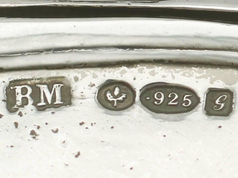 1907 Antique Edwardian Sterling Silver Shoe Trinket Box For Sale 2