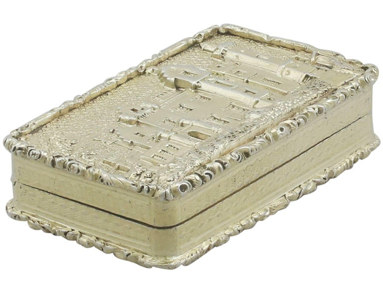 1830s Sterling Silver Gilt Vinaigrette In Excellent Condition For Sale In Jesmond, Newcastle Upon Tyne