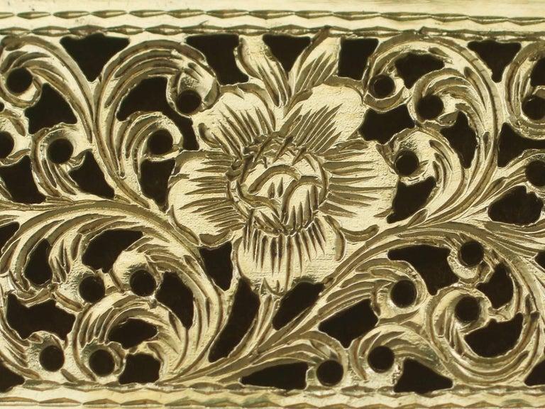 1830s Sterling Silver Gilt Vinaigrette For Sale 2