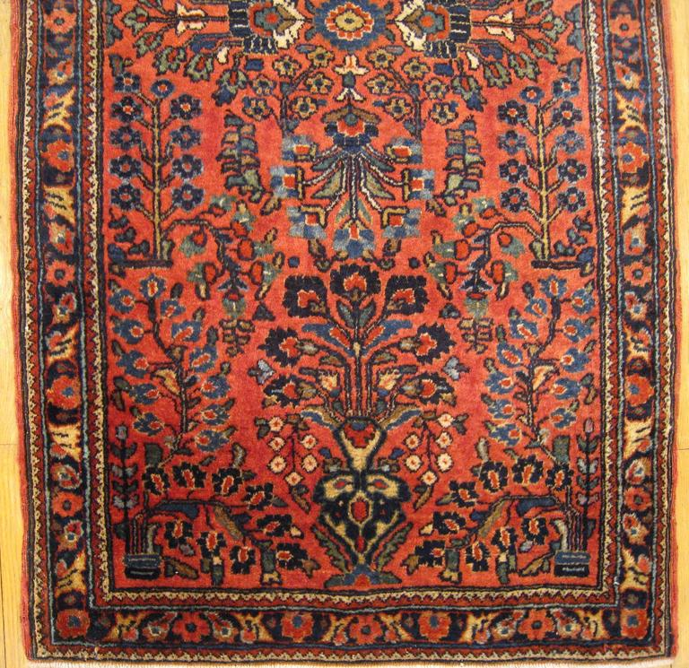 Antique Persian Sarouk Oriental Rug With Floral Design
