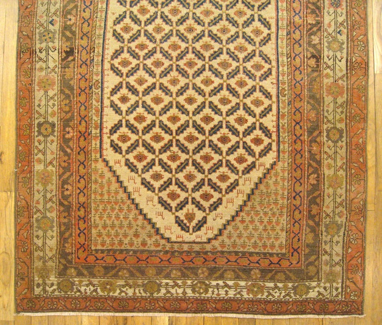 Antique Persian Hamadan Camel Hair Oriental Rug In Small