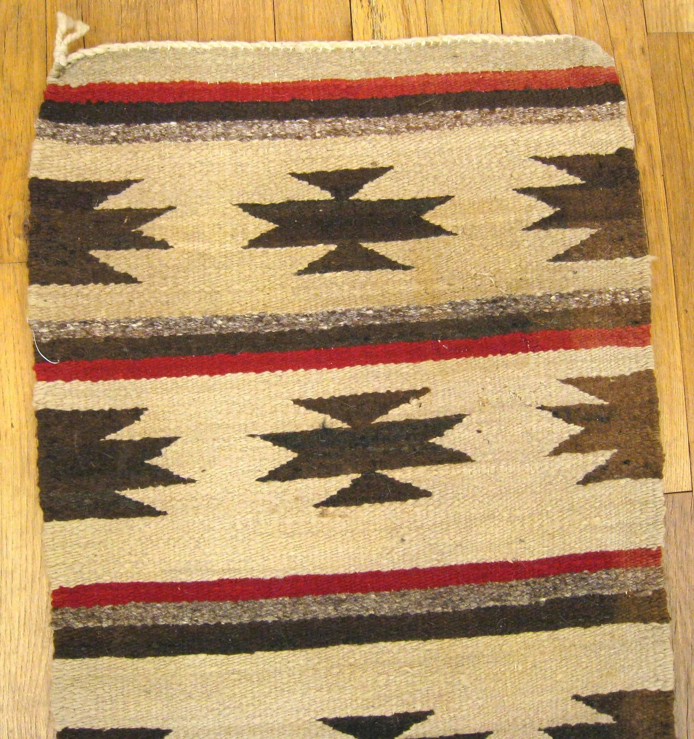 Mexican Rug Images: Vintage Mexican Zapotec Rug With Stars And Stripes Design