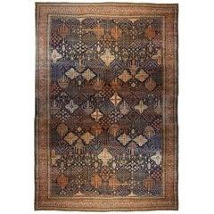 Antique Persian Ferahan Sarouk Oriental Carpet, Mansion Size with Diamond Design
