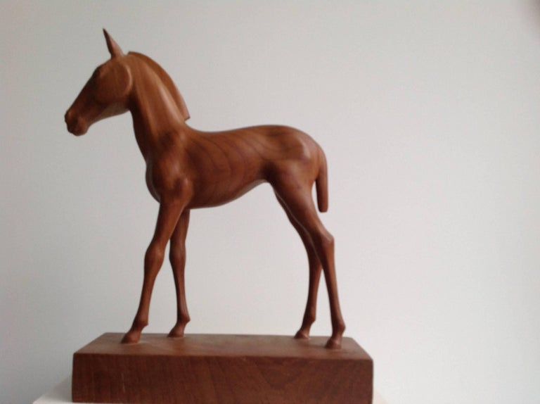 Sculpture of a Foal by the Dutch Sculptor a. Remiëns 2