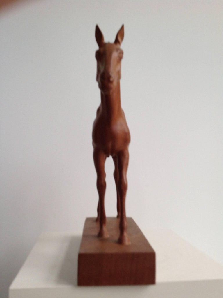 Sculpture of a Foal by the Dutch Sculptor a. Remiëns 3