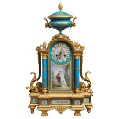 Fine Sevres and Ormolu Mantel Clock