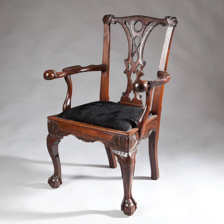 Marvelous 18th Century Irish Mahogany Butlers Chair 3