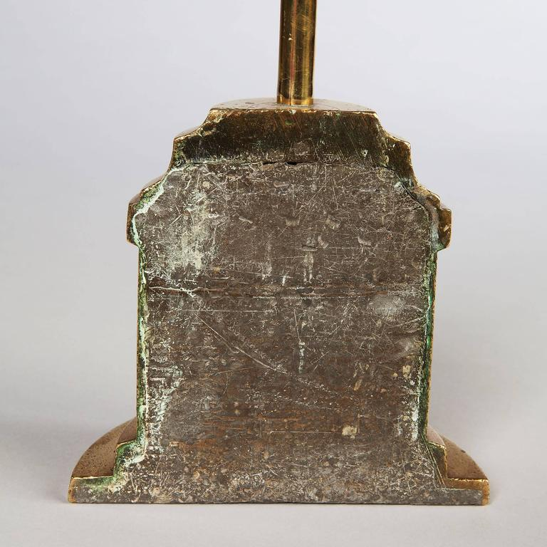 Overscale Tall Regency Brass Door Stop For Sale At 1stdibs