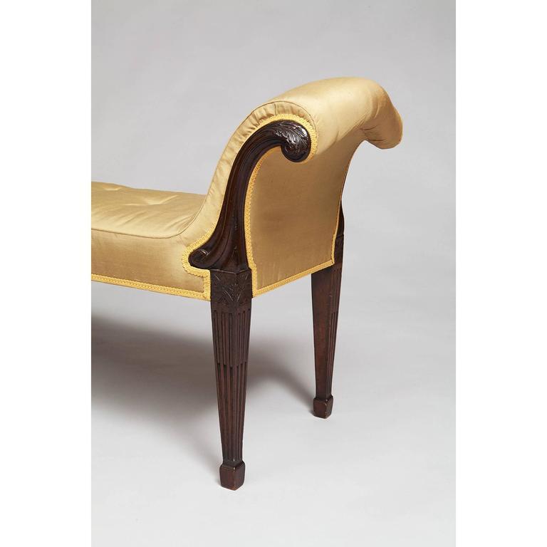 British Pair of George III Antique Mahogany Window Seats For Sale