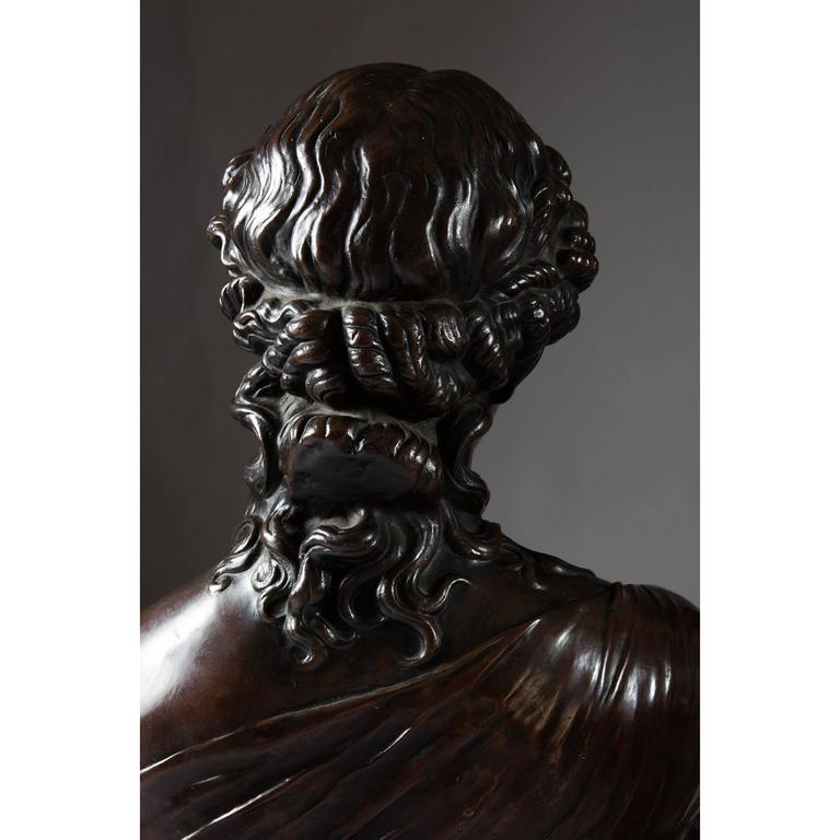 British Classical 19th Century Bronzed Copper Bust of Clytie For Sale