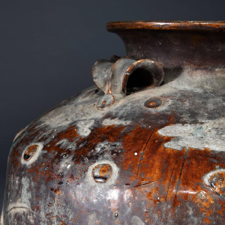 Pair of Large-Scale South Chinese Pottery Storage Jars For Sale 1
