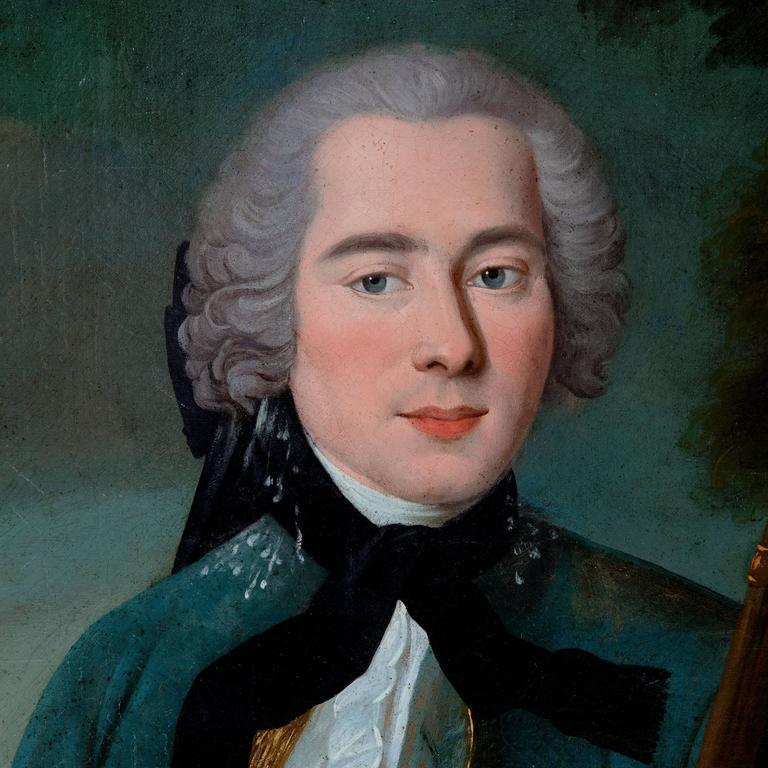 Oil on canvas   Portrait of a gentleman  18th century   Measures: Portrait framed 56 x 43 and 51 x 38.5.