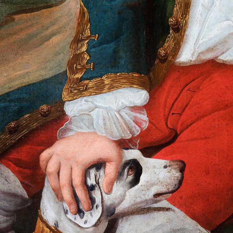 European Portrait of a Gentleman, Oil on Canvas For Sale