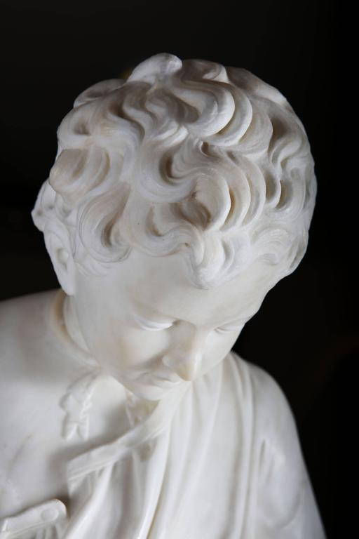 19th Century Grand Tour Carved Marble Figure In Good Condition For Sale In London, GB