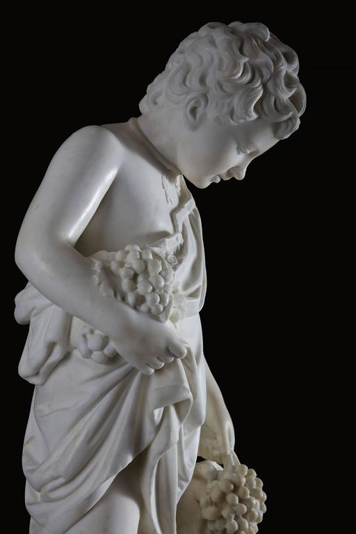 Neoclassical 19th Century Grand Tour Carved Marble Figure For Sale