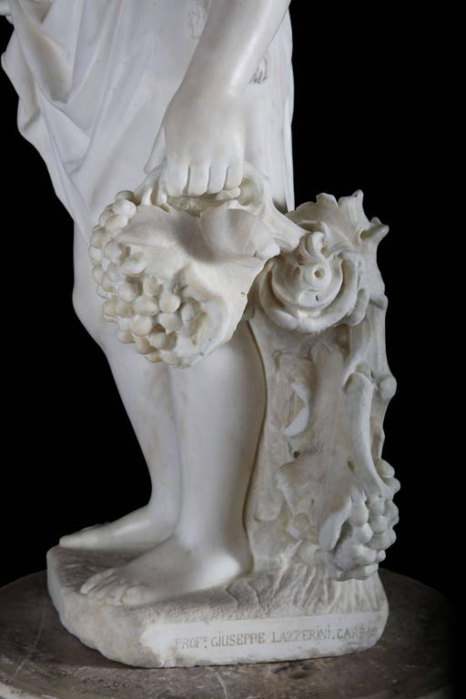 19th Century Grand Tour Carved Marble Figure For Sale 1