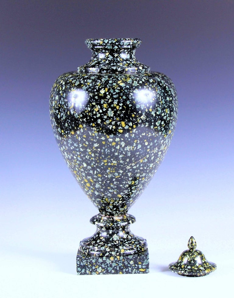 Rare 19th Century Grand Tour Porphyry Marble Roman Vase For Sale At