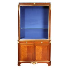 Napoleon III Glazed Vitrine Cabinet on Chest