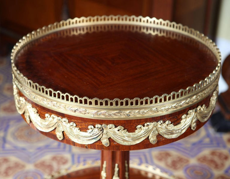Near Pair of Louis XVI Style End Tables  For Sale 1