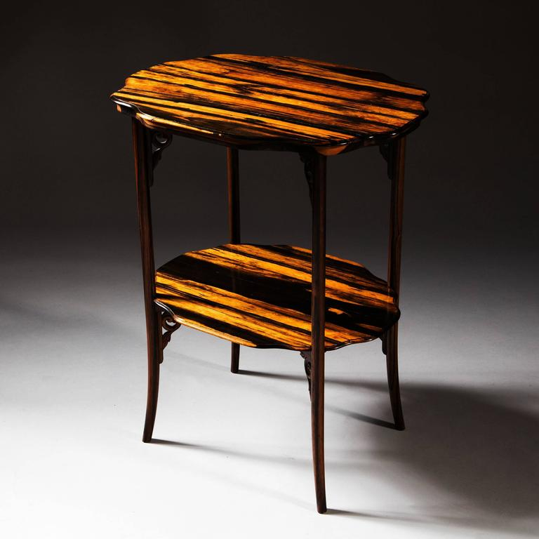 Anglo-Indian Calamander Wood Folding Campaign Table For Sale