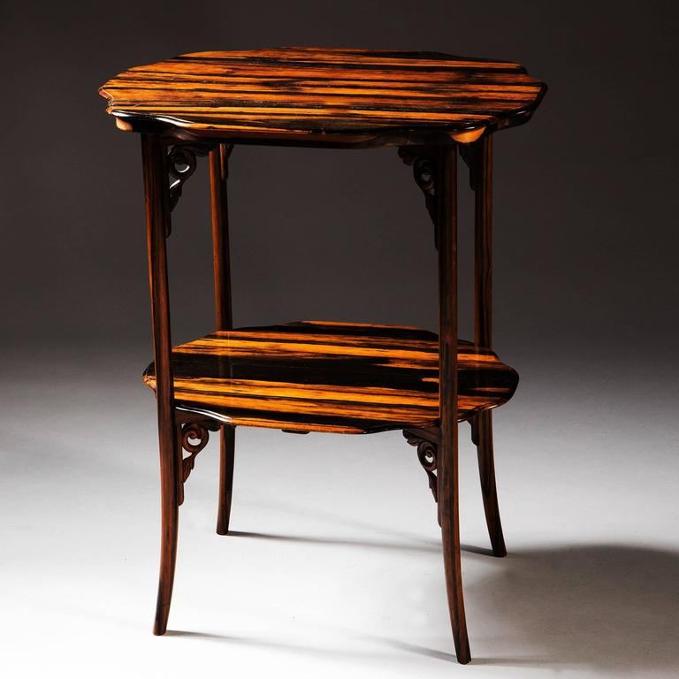 Indian Calamander Wood Folding Campaign Table For Sale
