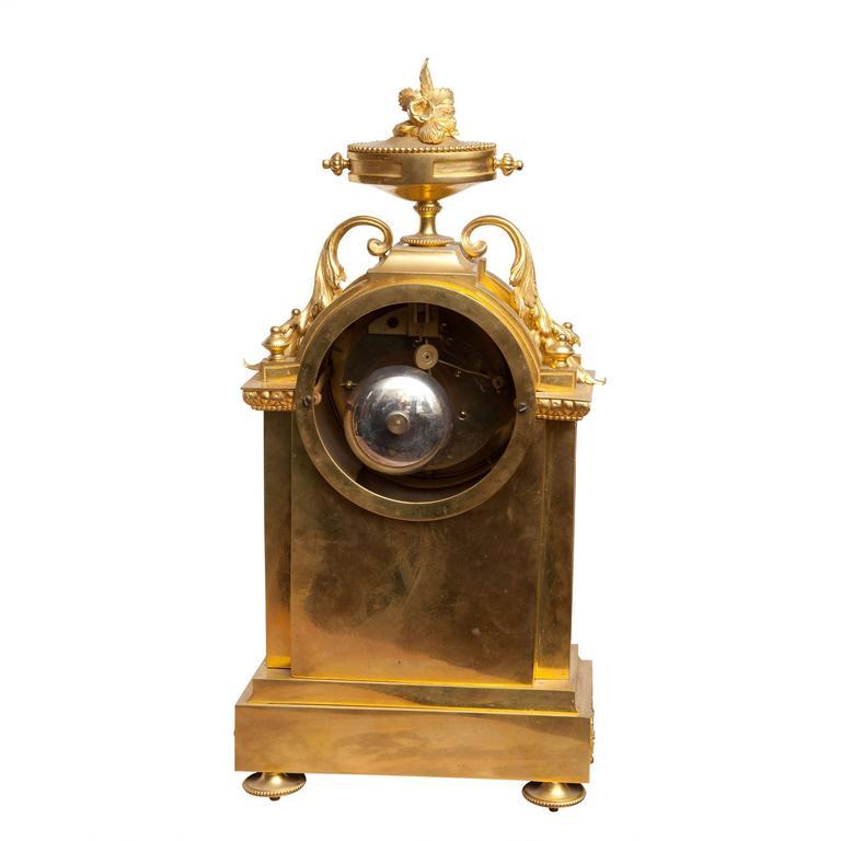 Napoleon III Fine Porcelain Mounted Ormolu Mantel Clock For Sale