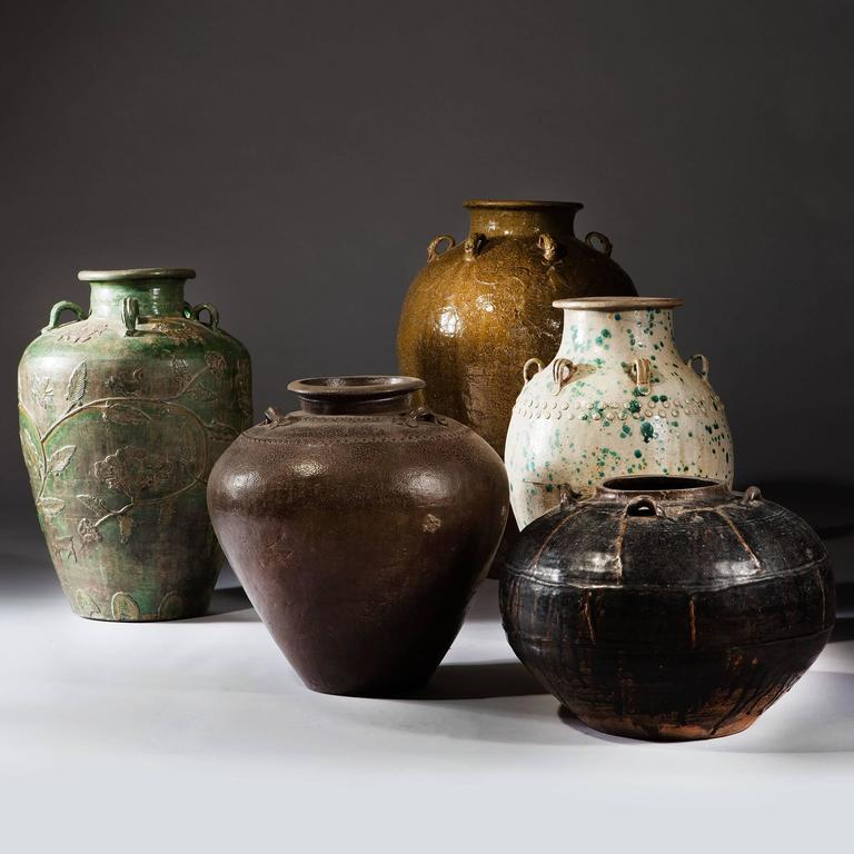 South Asian Brown Glaze Rustic Chinese Storage Jar  For Sale
