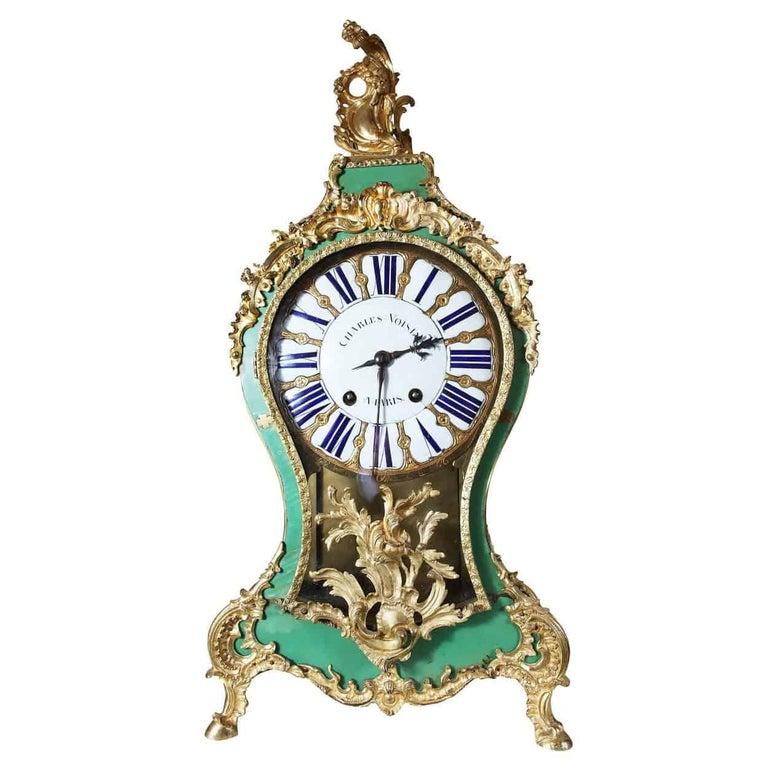 18th Century Louis XV Bracket Cartel Clock by Charles Voisin, Paris