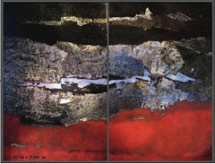 "Pascal Bost ""Rouge"" 2010, Large Abstract Painting"