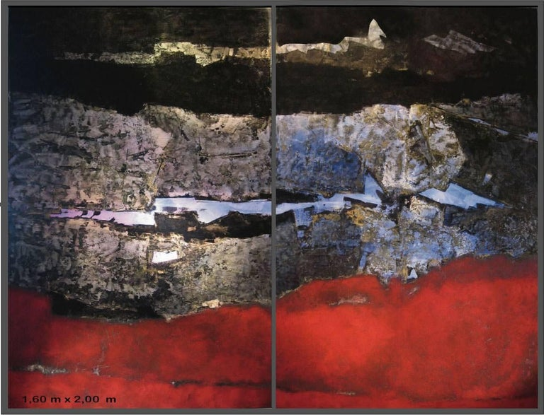 """Pascal Bost """"Rouge"""" 2010, Large Abstract Painting"""