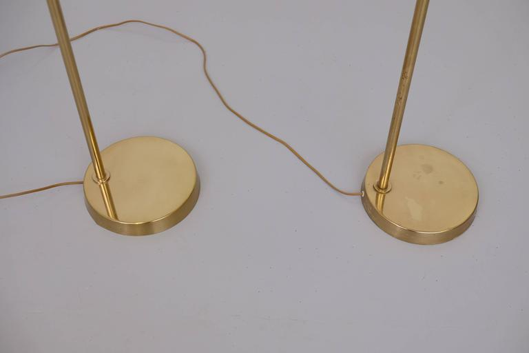 Pair of Brass Floor Lamps by Bergboms Model G-118 For Sale 2