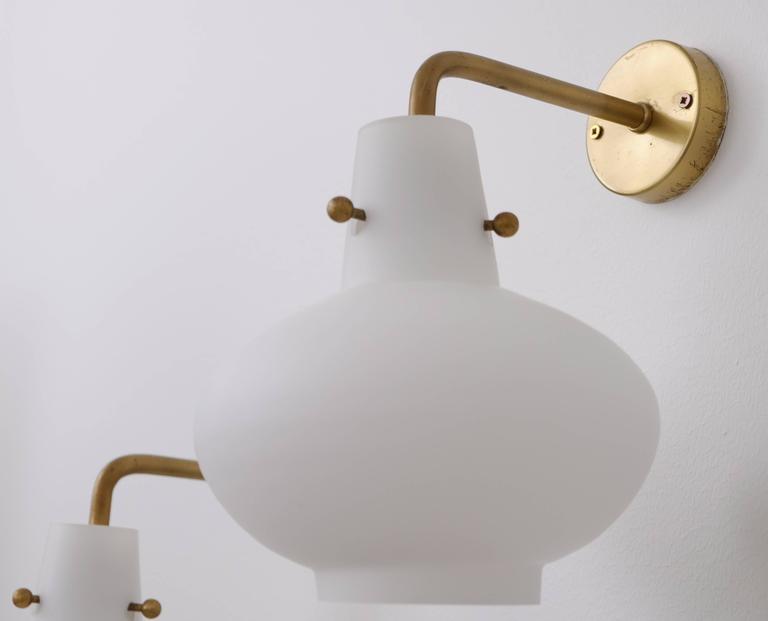 Scandinavian Modern Rare Set of Ten Wall Lamps by Hans Bergström For Sale