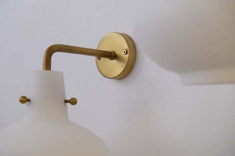 Rare Set of Ten Wall Lamps by Hans Bergström In Excellent Condition For Sale In Stockholm, SE