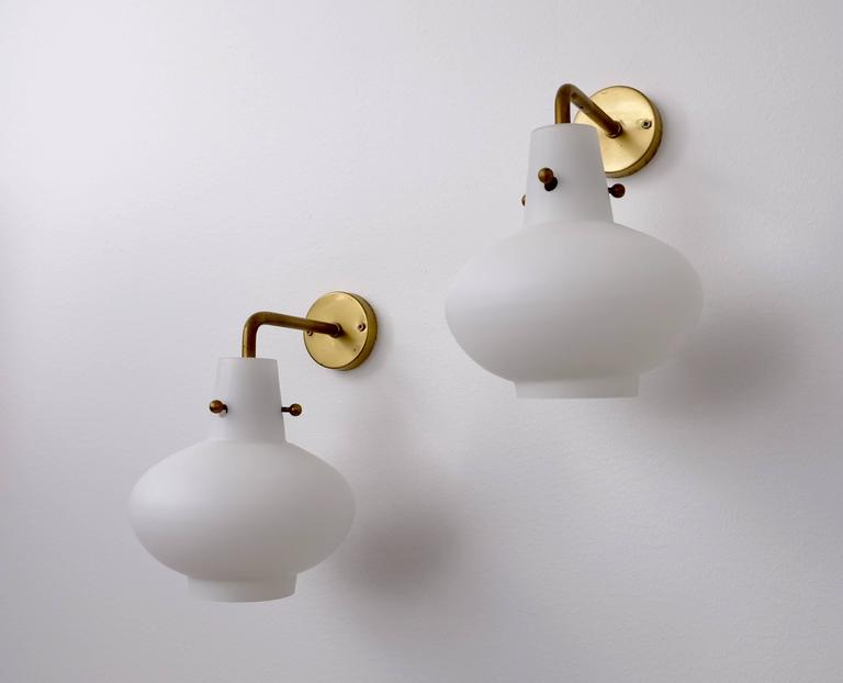 Mid-20th Century Rare Set of Ten Wall Lamps by Hans Bergström For Sale