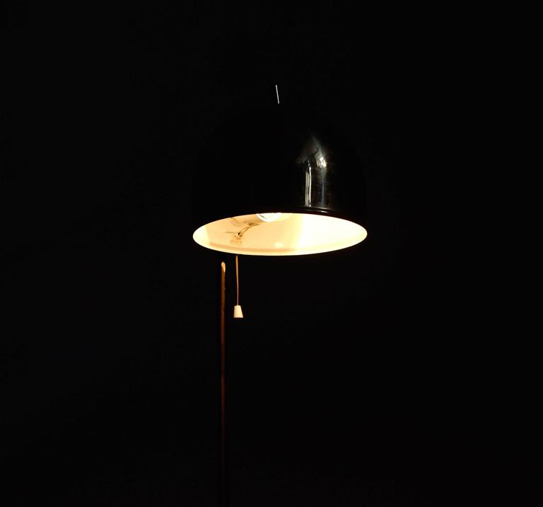 Mid-20th Century Brass Floor Lamp G-075 by Bergboms, 1960s For Sale