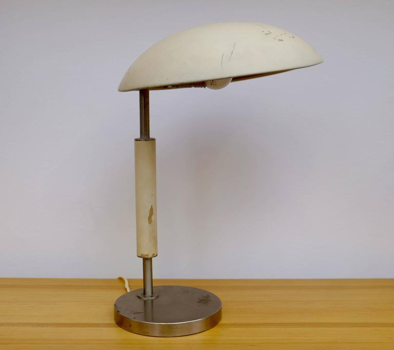 Steel Table Lamp, Sweden, 1930s For Sale