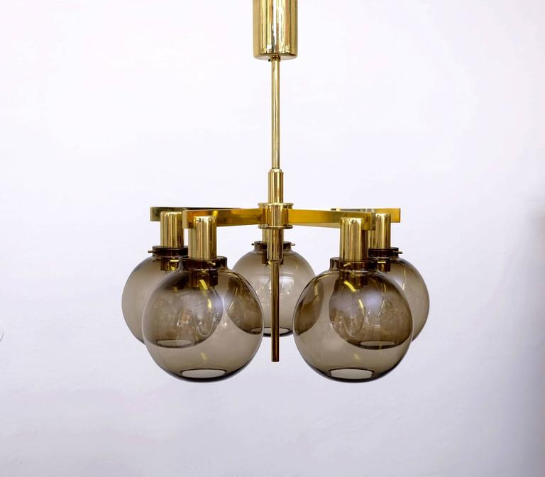 Pair of Hans-Agne Jakobsson Ceiling Lamps Model T348/5 'Pastoral', 1960s For Sale 2