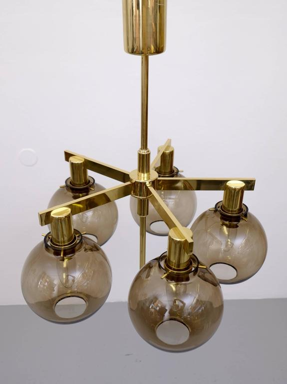 Mid-20th Century Pair of Hans-Agne Jakobsson Ceiling Lamps Model T348/5 'Pastoral', 1960s For Sale